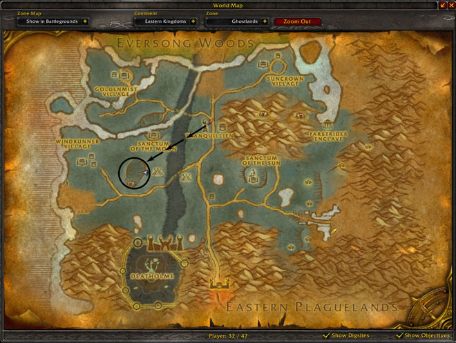Linen Cloth Farming Spot For Horde Map