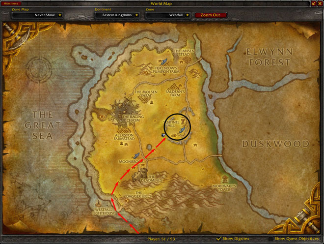Linen cloth farming spot for alliance rpgtutor wow gold for West fall