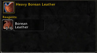 Materials for Heavy Borean Leather
