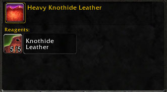 Materials for Heavy Knothide Leather
