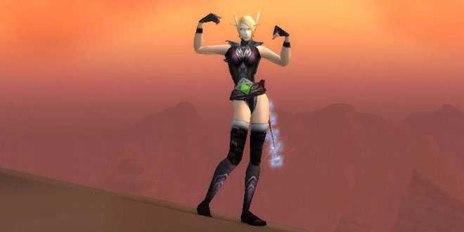 Blood Elf Girl Wearing Black Mageweave Armor