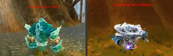 Air and Water Elemental Mobs