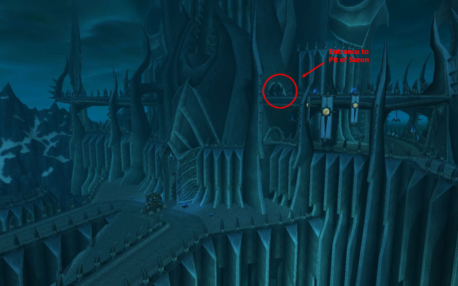 Entrance Location To Pit of Saron