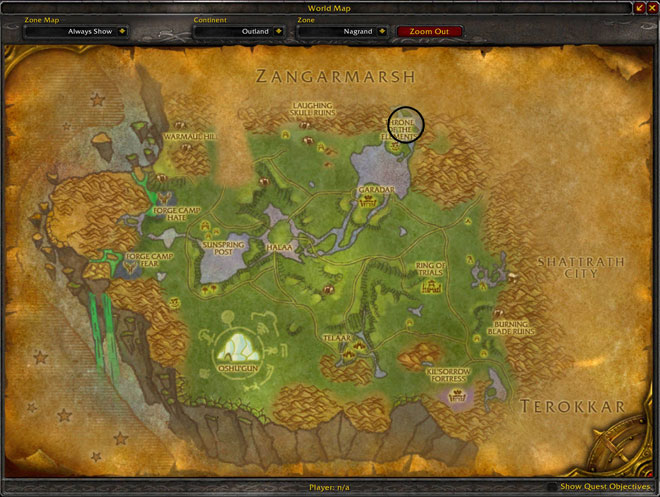 Throne of Elements - Nagrand - Map