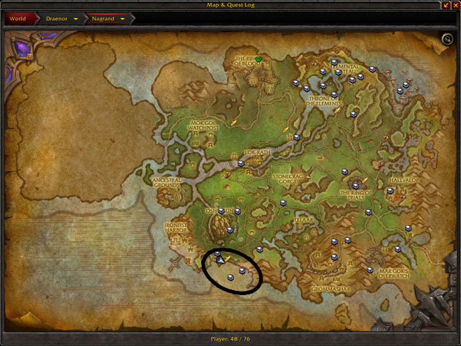Pin draenor map on pinterest for Wow fishing guide