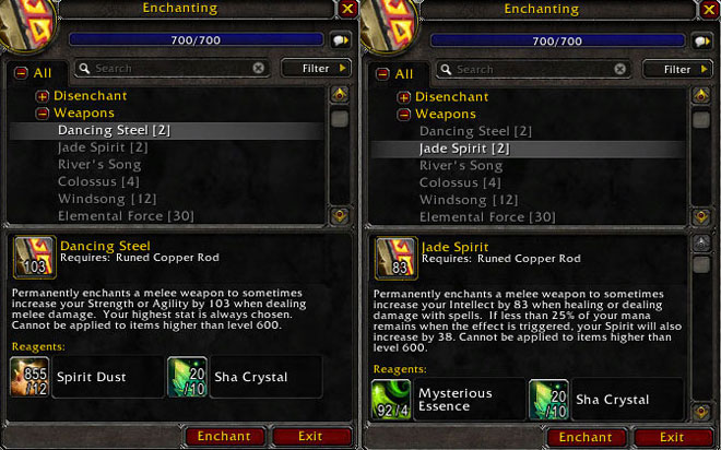 MoP Weapon Enchantment Materials