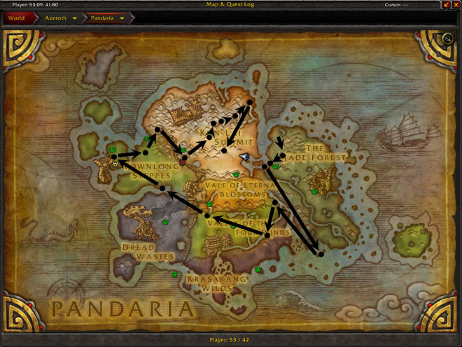 Pandaria Treasures Map