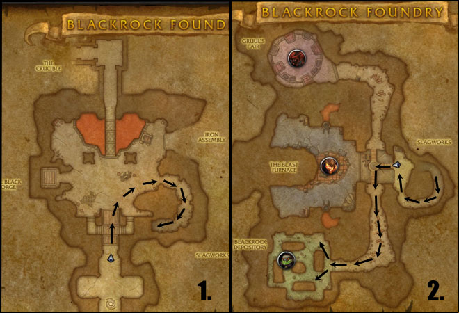 Blackrock Foundry Trash Route